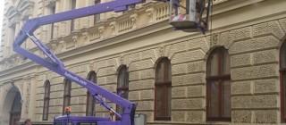 Výškové čištění fasád Brno